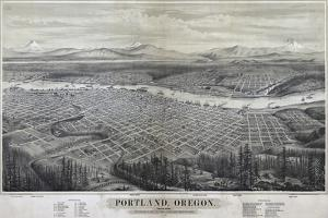 Map Of Portland Oregon 1879 by Vintage Lavoie