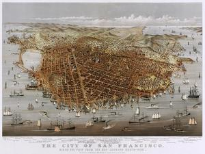 Map Of The City Of San Francisco 1878 by Vintage Lavoie
