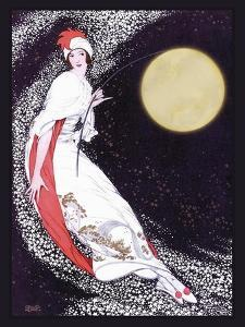Moon Fairy Canvas 2a by Vintage Lavoie