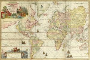 World Map By Gerard Van Keulen by Vintage Lavoie