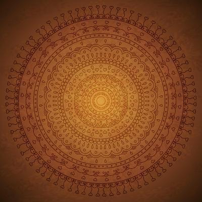Vintage Mandala Ornament Background-siminitzki-Art Print