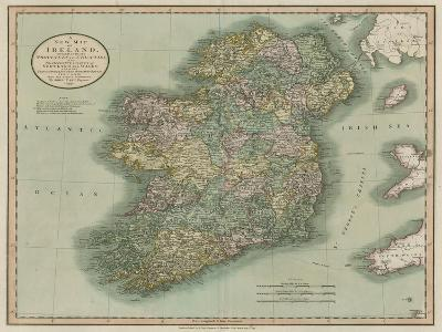 Vintage Map of Ireland-John Cary-Art Print