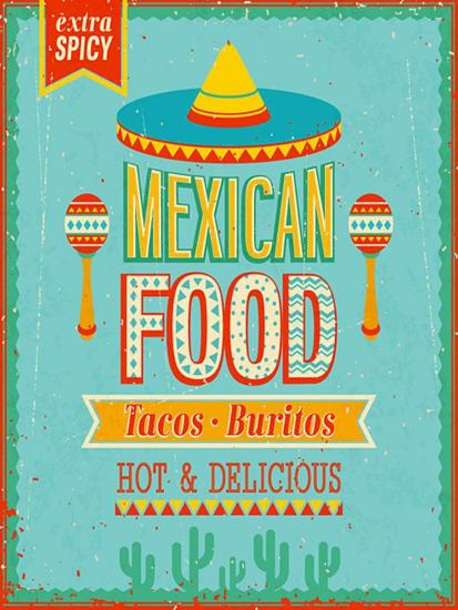 Vintage Mexican Food Poster-avean-Premium Giclee Print