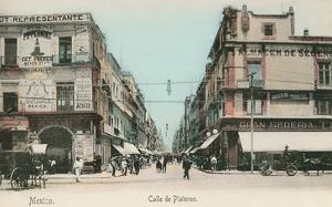 Vintage Mexico City Street Scene