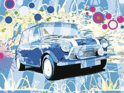 Vintage Mini Cooper-Michael Cheung-Art Print
