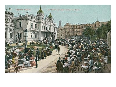 Vintage Monte Carlo Scene--Art Print