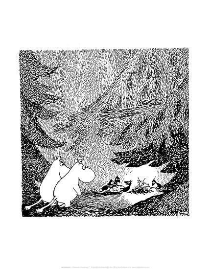Vintage Moomin Illustration-Tove Jansson-Art Print