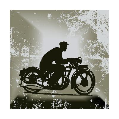 Vintage Motorcycle Background-Petrafler-Art Print