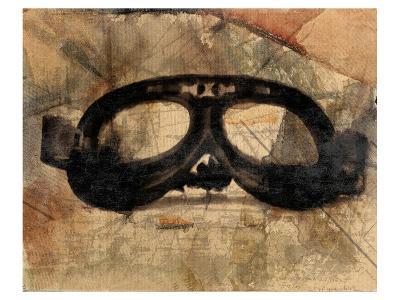 Vintage Motorcycle Glasses-Irena Orlov-Art Print