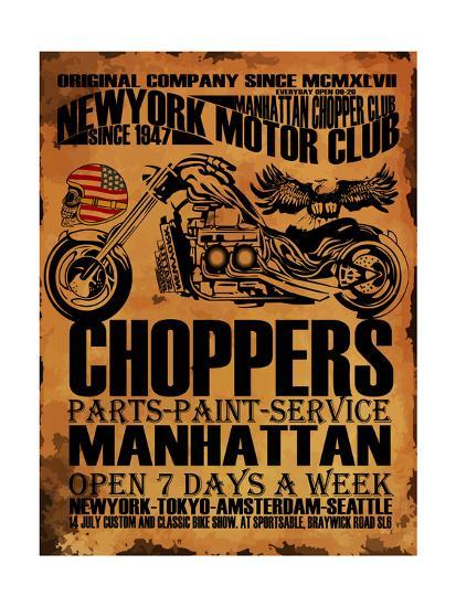 Vintage Motorcycle T-Shirt Graphic-emeget-Art Print