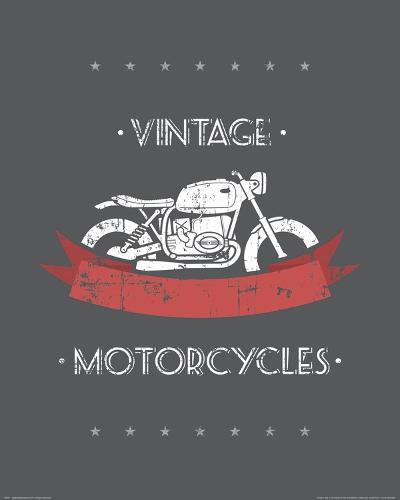 Vintage Motorcycles--Art Print