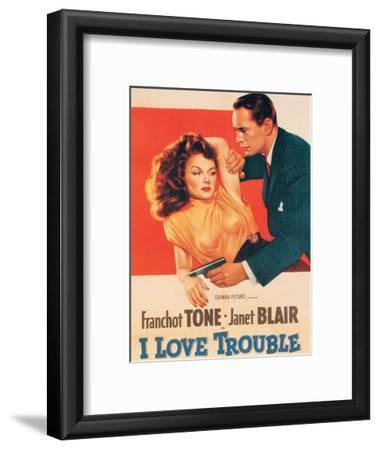 Vintage Movie Poster - I Love Trouble