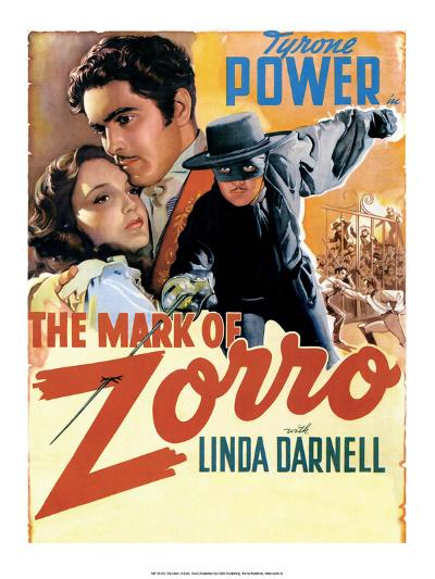 Vintage Movie Poster - The Mark of Zorro--Art Print