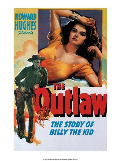 Vintage Movie Poster - The Outlaw--Art Print