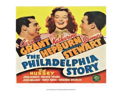 Vintage Movie Poster - The Philadelphia Story--Art Print