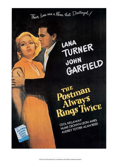 Vintage Movie Poster - The Postman Always Rings Twice--Art Print