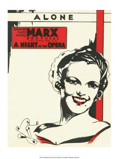 Vintage Music Sheet, A Night at the Opera, Marx Brothers--Art Print
