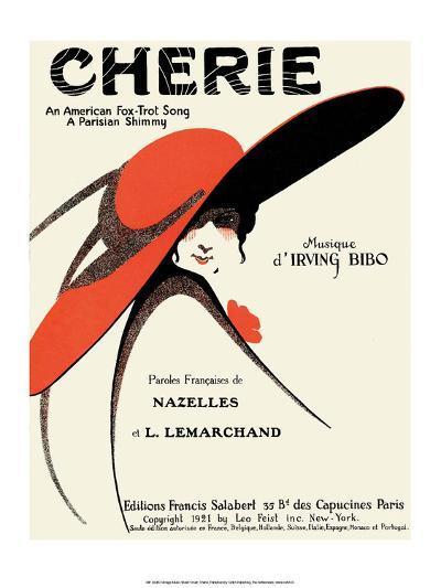 Vintage Music Sheet, Cherie--Art Print