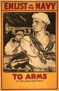 Vintage Navy Recruitment Poster