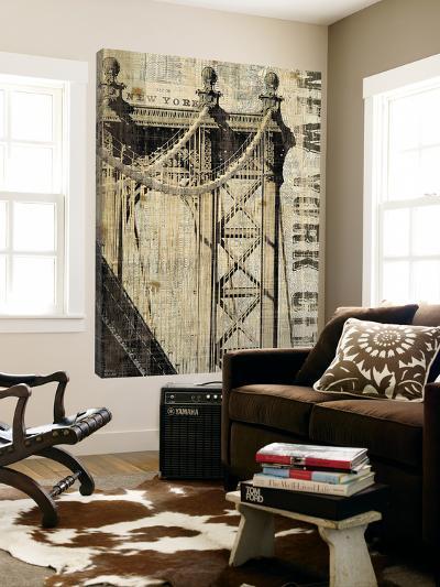 Vintage NY Manhattan Bridge-Michael Mullan-Loft Art