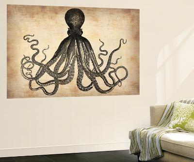 Vintage Octopus-NaxArt-Wall Mural