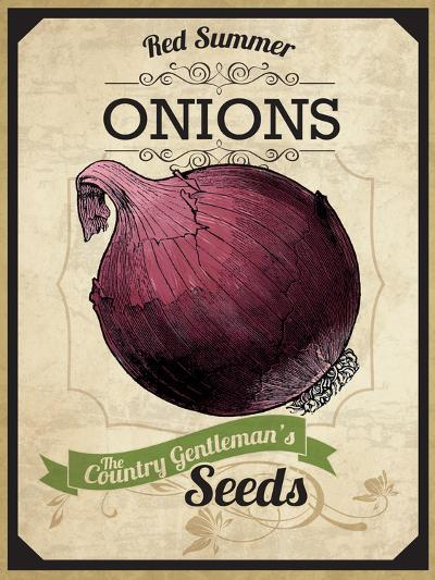 Vintage Onion Seed Packet--Giclee Print