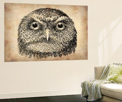 Vintage Owl Face-NaxArt-Wall Mural