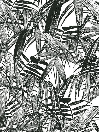 Vintage Palm Leaf-Lebens Art-Art Print