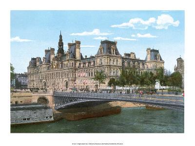 Vintage Paris Postcard - Le Pont Alexandre III--Art Print