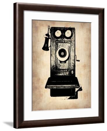 Vintage Phone 1-NaxArt-Framed Art Print