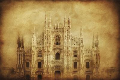 Vintage Photo of Duomo Di Milano, Milan, Italy