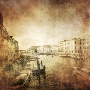 Vintage Photo of Grand Canal, Venice, Italy