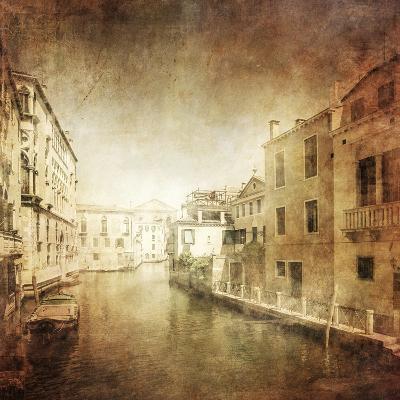 Vintage Photo of Venetian Canal, Venice, Italy--Photographic Print