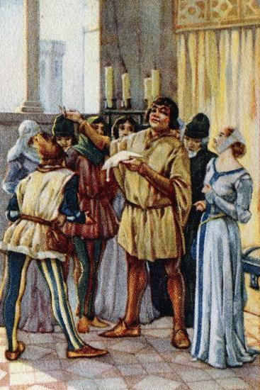 Vintage Picture Card Depicting Scene from the Opera Gianni Schicchi, 1918-Giacomo Puccini-Giclee Print