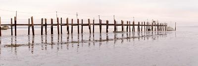 Vintage Pier at Fishing Village-Alan Blaustein-Photographic Print