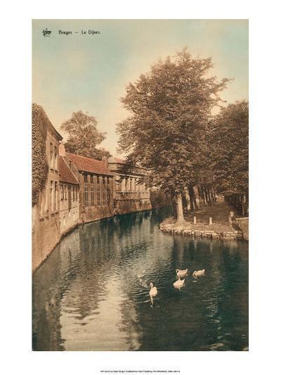 Vintage Postcard, Le Dijver, Bruges--Art Print