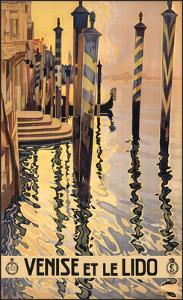 Venise et le lido by Vintage Poster