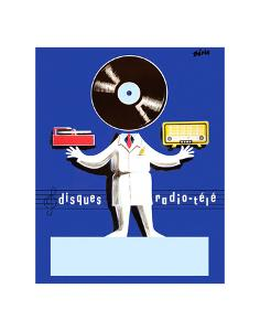 Disques Radio Tele by Vintage Posters