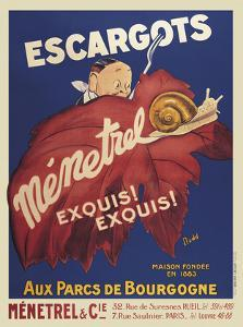 Escargots Menetrel by Vintage Posters