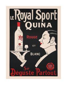 Le Royal Sport Quina Rouge et Blanc by Vintage Posters