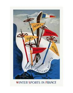 Winter Sports in France by Vintage Posters
