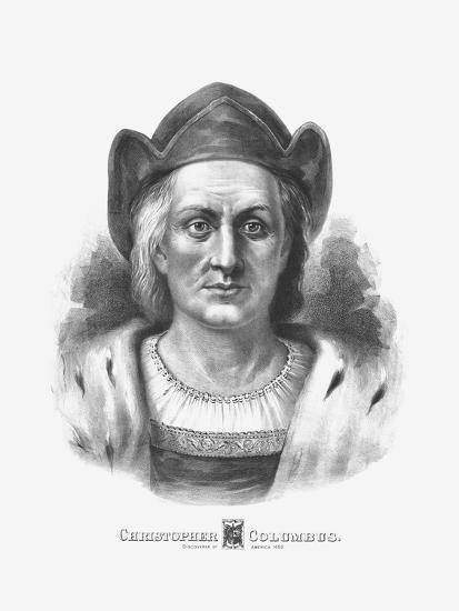 Vintage Print of Christopher Columbus-Stocktrek Images-Art Print