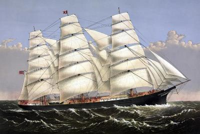 Vintage Print of the Clipper Ship Three Brothers-Stocktrek Images-Art Print