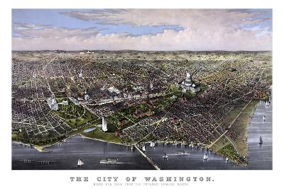 Vintage Print of Washington D.C-Stocktrek Images-Art Print