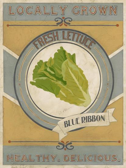 Vintage Produce Sign IV-June Vess-Art Print