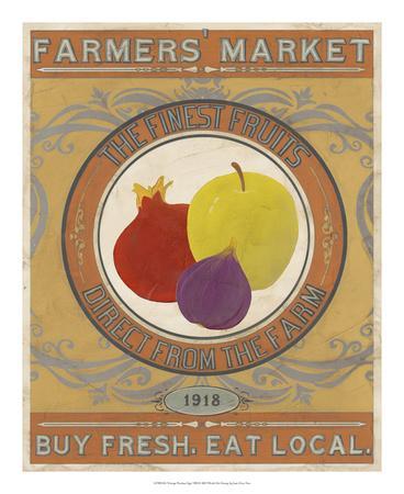 Vintage Produce Sign VIII-June Vess-Framed Art Print