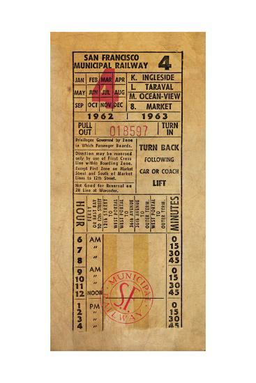 Vintage Railway Ticket-Pied Piper-Art Print