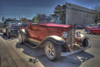 Vintage Red Car-Robert Kaler-Photographic Print