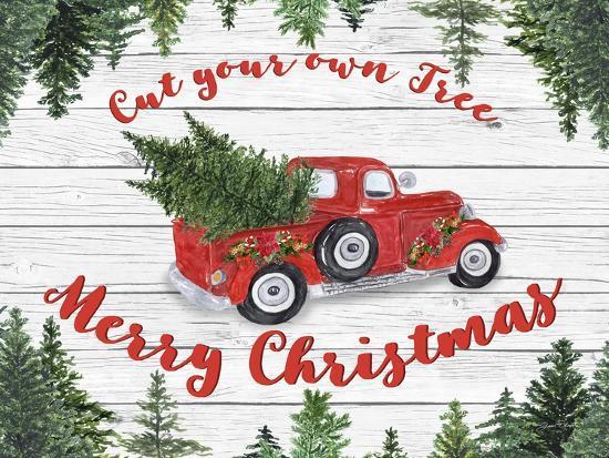 vintage red truck christmas b u l q1ca58y0