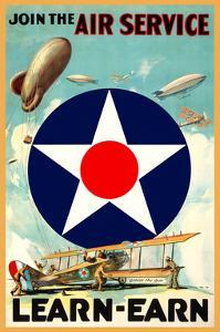 Join the Air Service by Vintage Reproduction